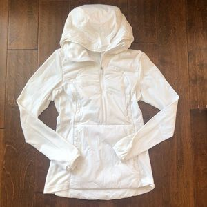Lululemon | White Run For Cold Pullover Jacket